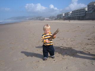 First Birthday - Beach stick